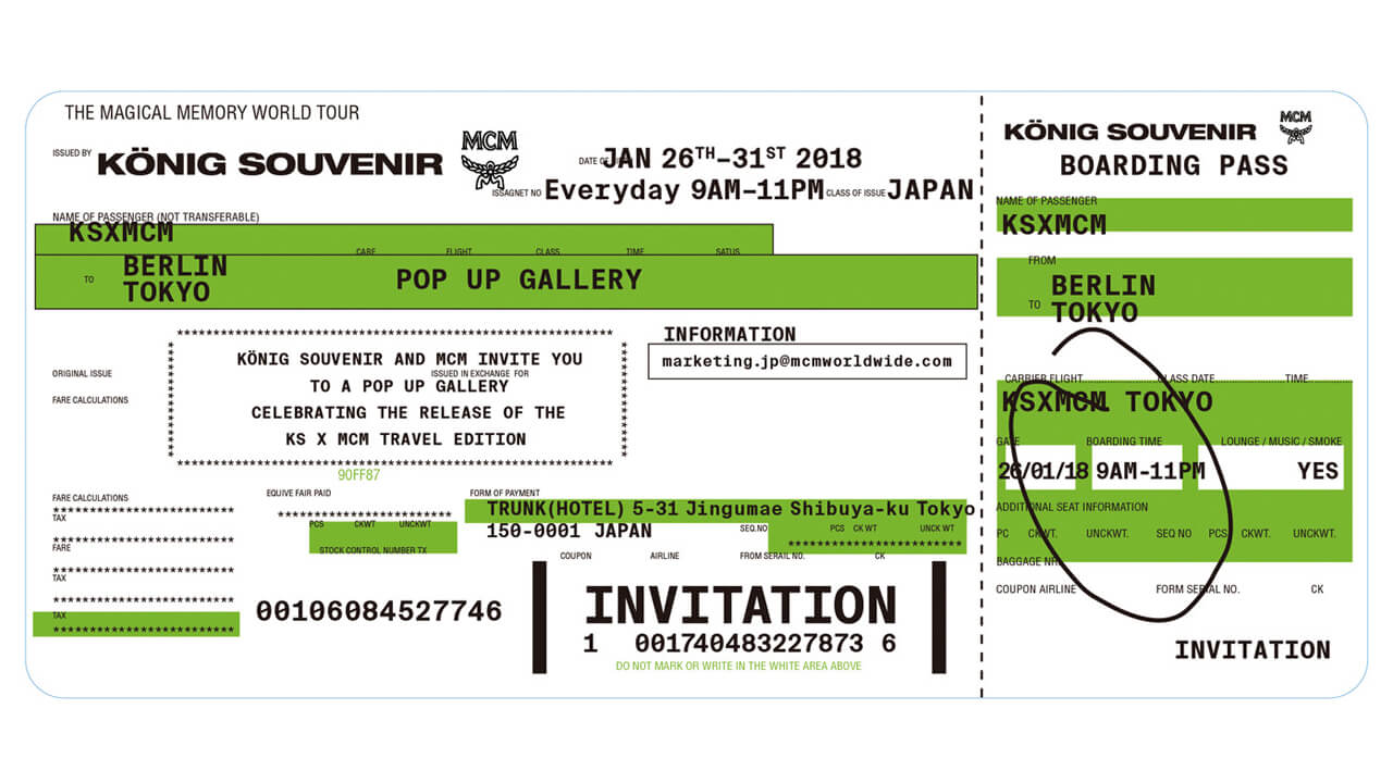 2018.1.26~31 MCM × KÖNIG SOUVENIR Pop-up Gallery