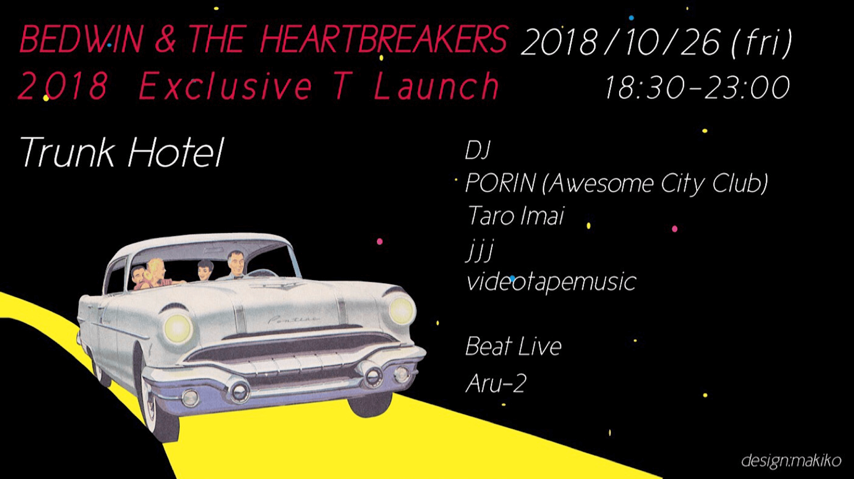 BEDWIN& THE HEARTBREAKERS 2018 T Launch