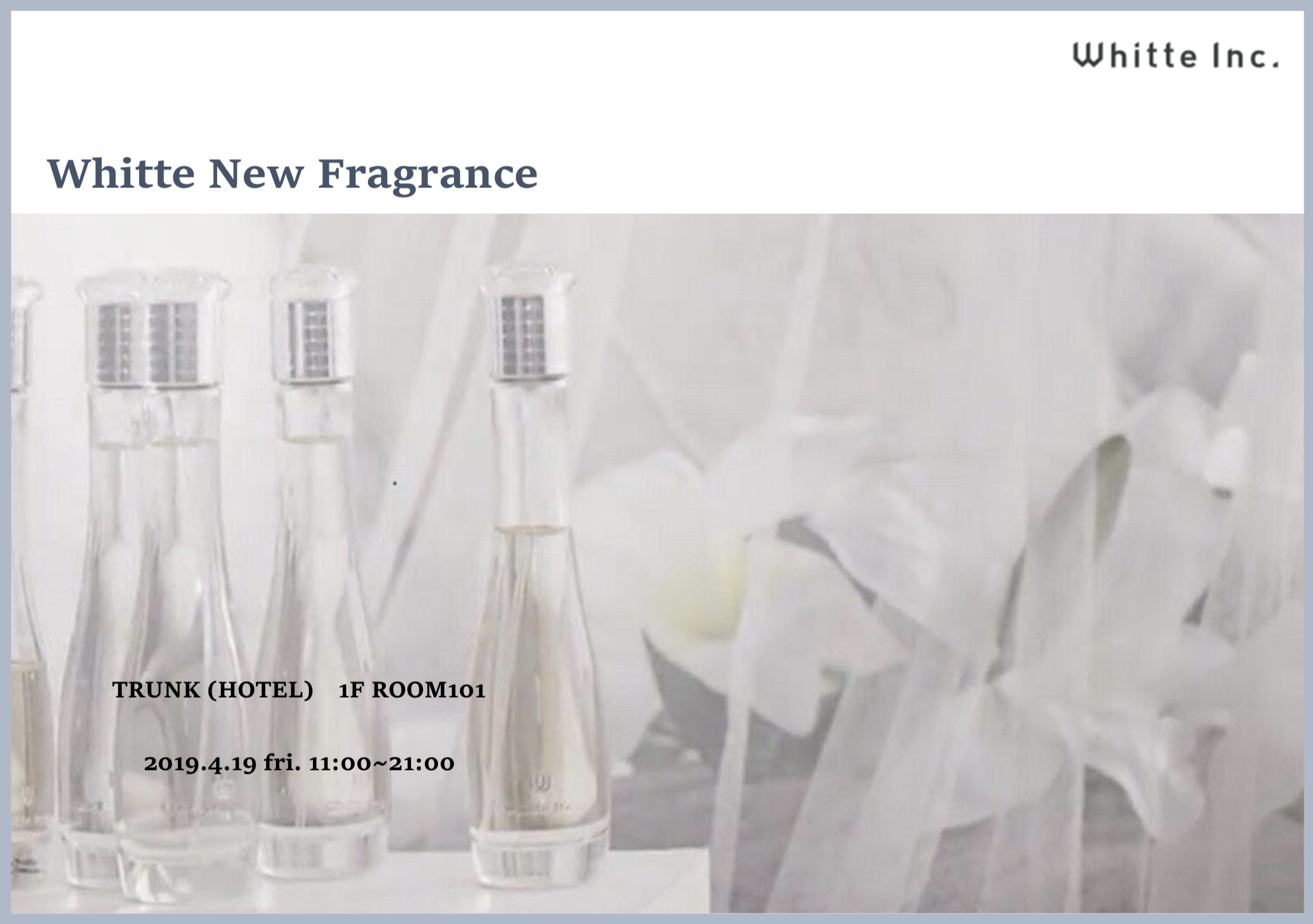 Whitte New Fragrance POP UP STORE