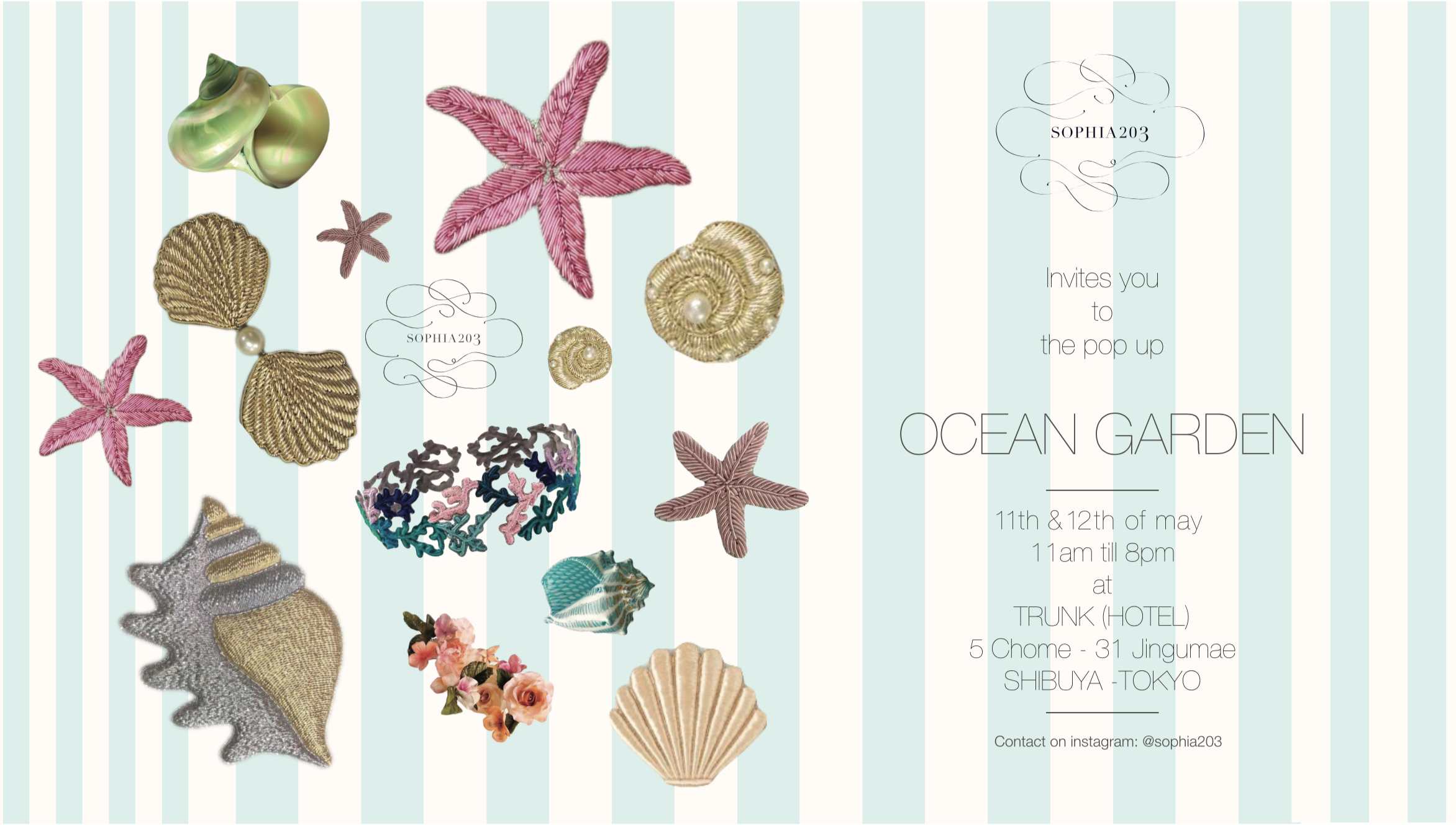 "SOPHIA 203 ""OCEAN GARDEN"" Pop-Up Shop"