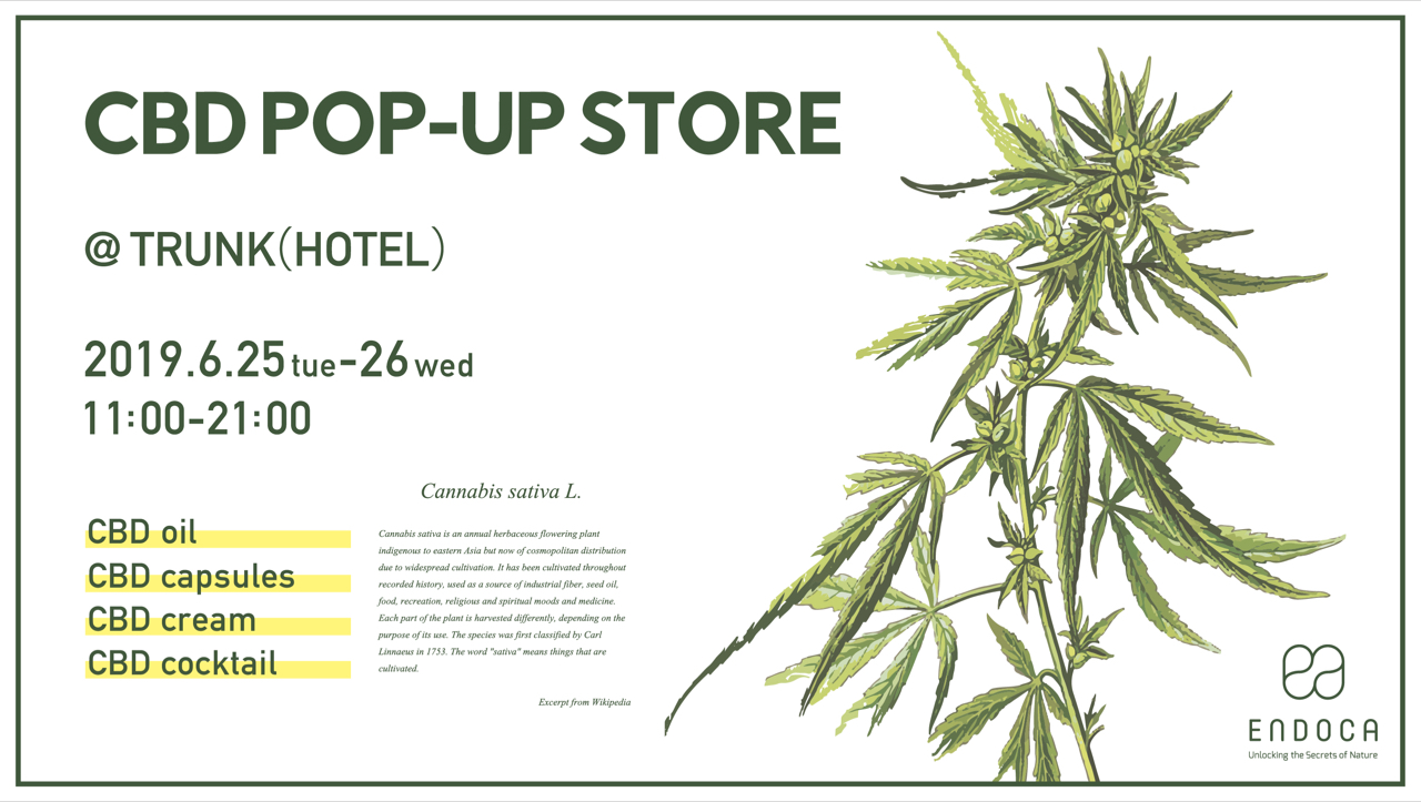 ENDOCA CBD POP-UP STORE