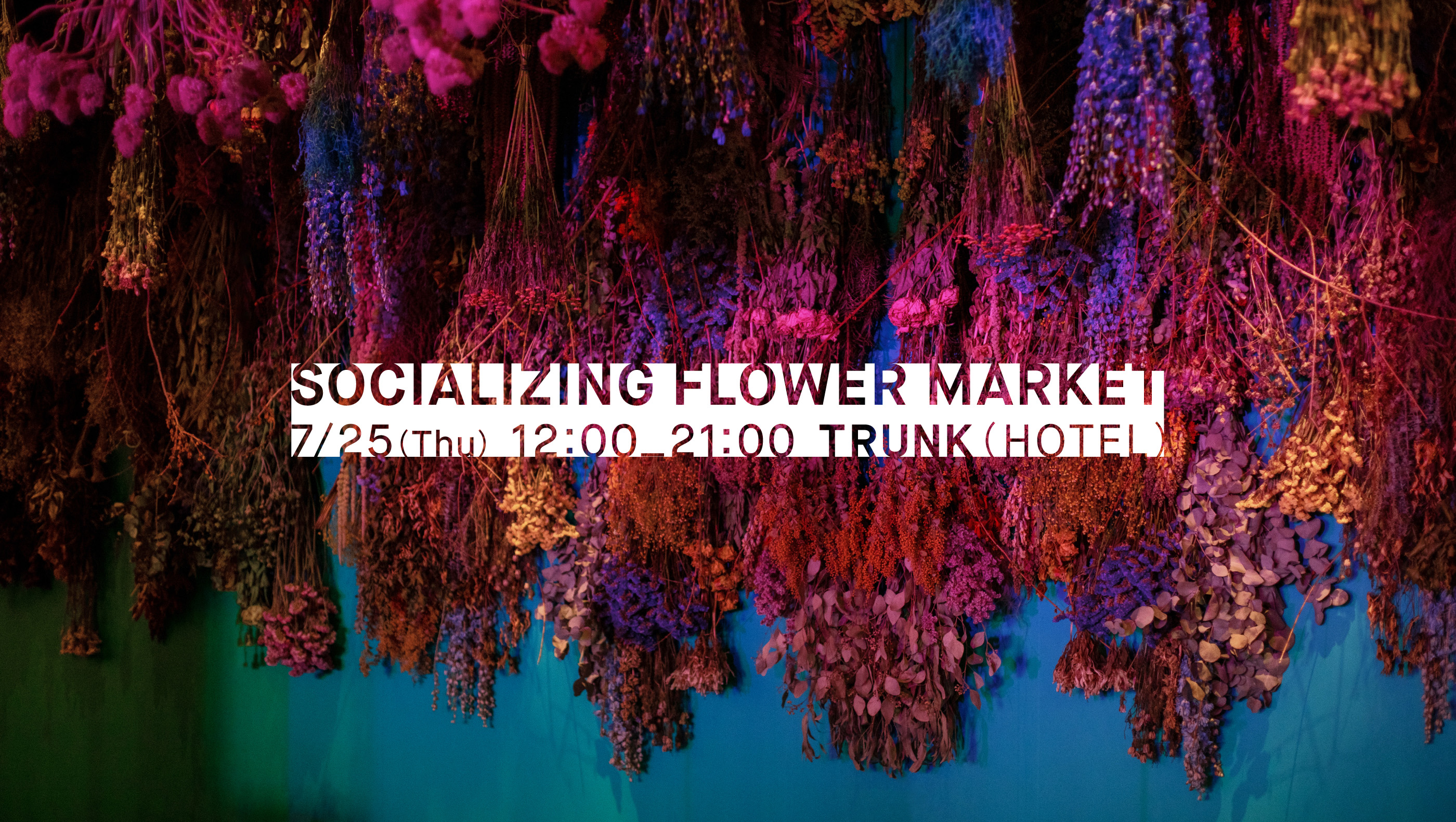 SOCIALIZING FLOWER MARKET